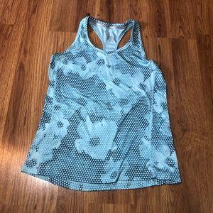Nike Blue Geometric Floral Medium Workout Tank